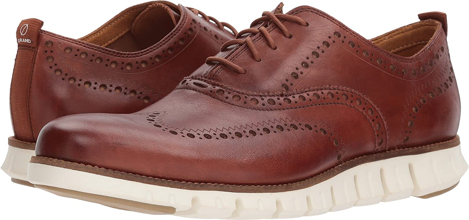 Woodbury Leather Ivory Cole Haan Men's Zerogrand Wing Oxford
