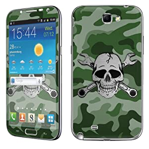 Samsung [Galaxy Note 2] Skin [NakedShield] Scratch Guard Vinyl Skin Decal [Full Body Edge] [Matching WallPaper] - [Camouflage Wrench Skull] for Samsung Galaxy [Note 2]