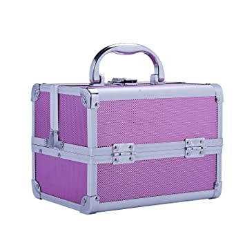 8b0a29be769b Soozier Makeup and Jewelry Train Case with Mirror - Pink