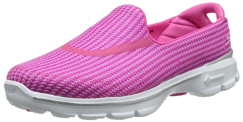 Skechers Performance Women's Go Walk 3 Slip-On Walking Shoe B00KYCJJFQ 11 B(M) US|Hot Pink