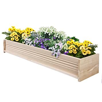 Wonderful Greenes Fence Cedar Patio Planter Box, 48 Inch, 1 Planter