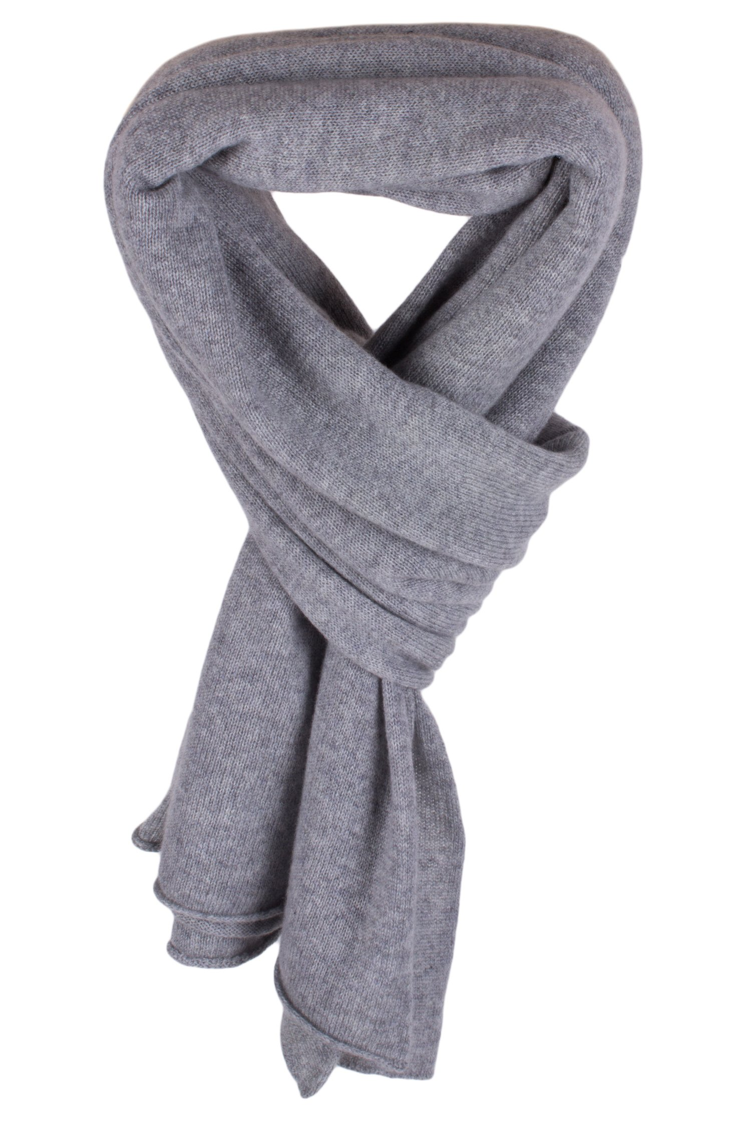 Women's 100% Cashmere Wrap Scarf - Light Gray - hand made in Scotland by Love Cashmere RRP $350