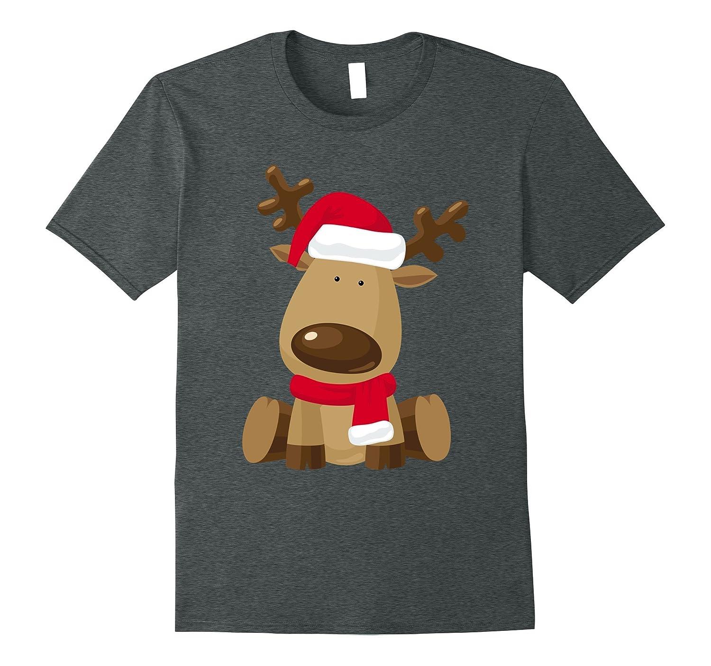 Cute Christmas Reindeer Emoji Cartoon T-Shirt costume-ANZ
