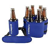 StubbyStrip Premium Portable Insulated Drink Carrier Neoprene 1-7 Bottle or Can Holder, Royal Blue
