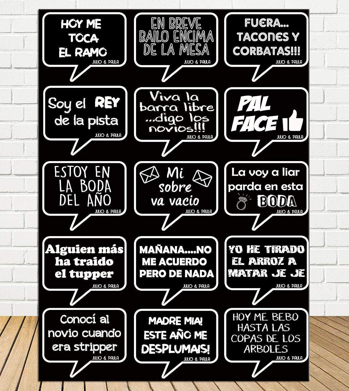Tu Fiesta Mola Mazo Burbujas Negro para photocall Divertidos ...