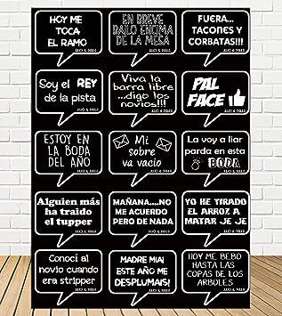 Tu Fiesta Mola Mazo Burbujas Negro para photocall|Divertidos ...