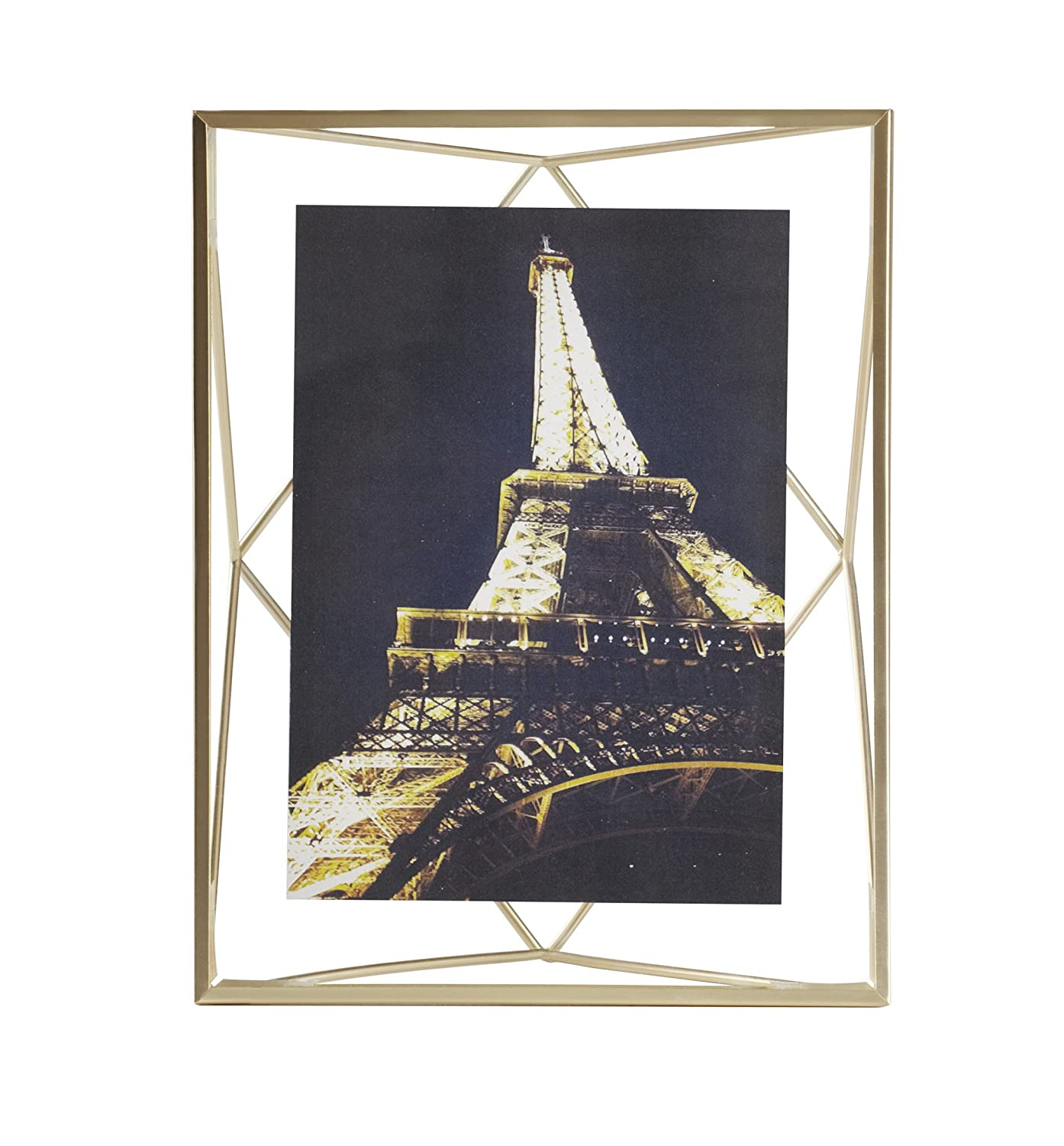 umbra prisma picture frame 5 by 7 inch matte brass