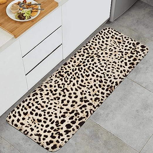 39 X 20 Kitchen Rugs Leopard Print Animal Skin Design Non Slip Soft Kitchen Mats Bath Rug Runner Doormats Carpet For Home Decor Kitchen Table Linens Kitchen Dining Emosens Fr