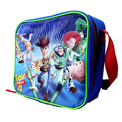4d21927109be Disney Pixar Toy Story 4 Lunch Bag Insulated Lunch Box School Tote  Officially Licensed Adjustable Strap Sturdy Zip Closure Buddies Style Large  ...