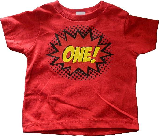 Custom Kingdom Baby Boys One Superhero Colorful First Birthday T Shirt 12 Months