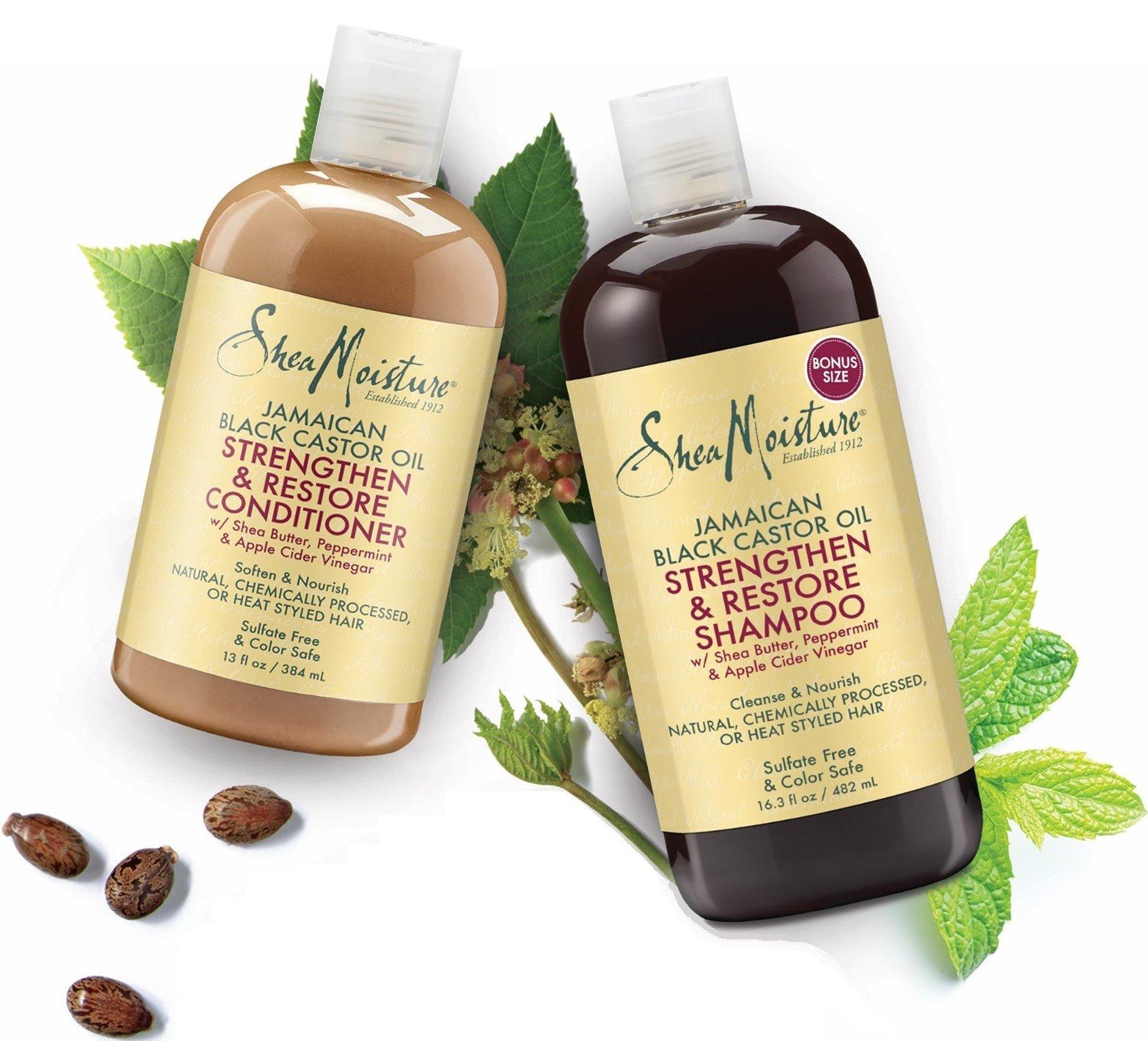 Shea Moisture  Strengthen, Grow & Restore Shampoo and Conditioner Set, Jamaican Black Castor Oil Combination Pack, 16.3 oz Shampoo & 13 oz. Conditioner by Shea Moisture (Image #7)