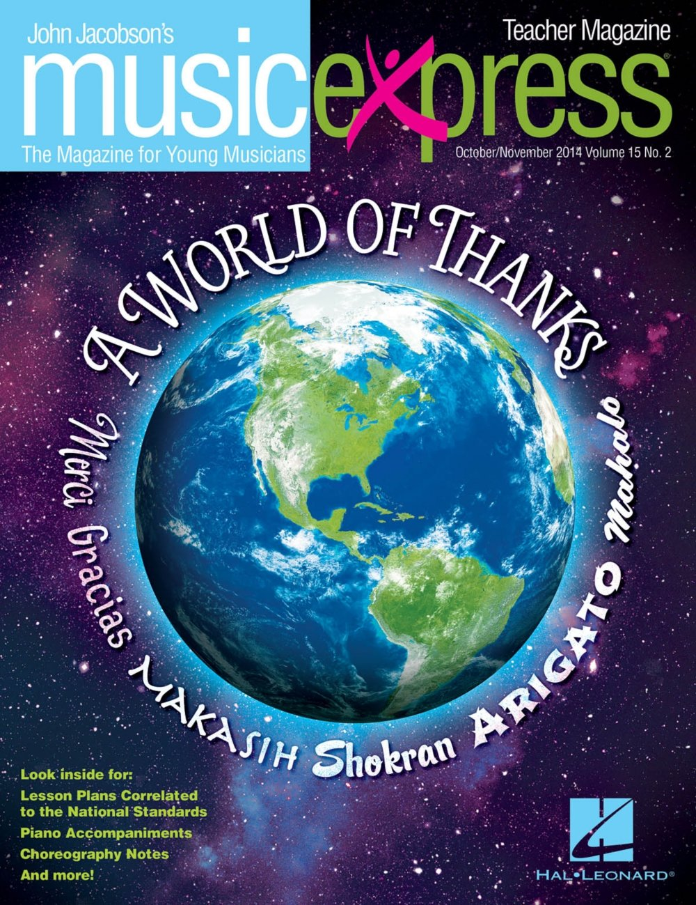 Hal Leonard A World of Thanks Vol. 15 No. 2 (October/November 2014) PREMIUM COMPLETE PAK Composed by John Jacobson PDF