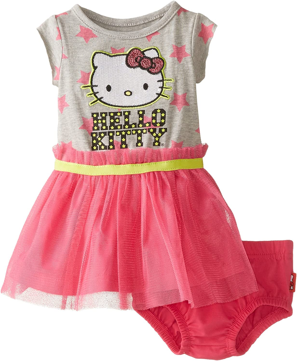 Hello Kitty Knockout Pink 2 Piece Pink Skirt Set for Baby Girls