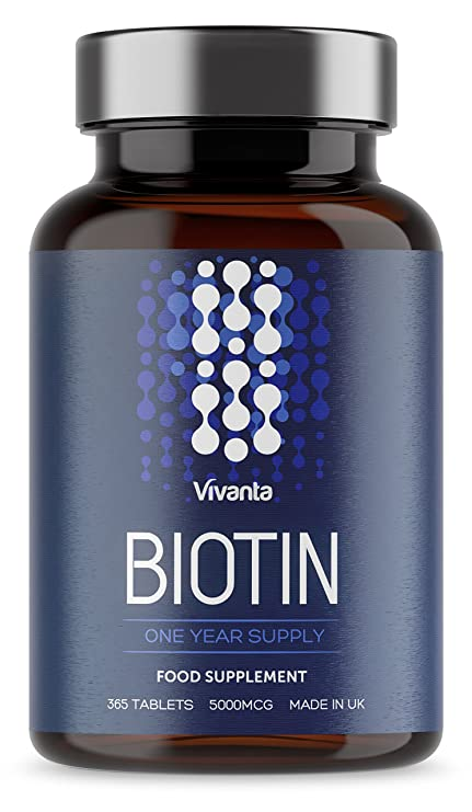 Biotin - Suplemento para el cabello y la piel - 365 comprimidos vegetarianos y veganos -