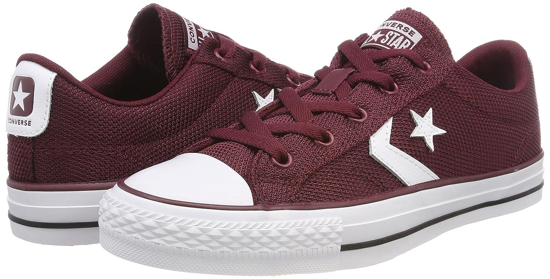 Converse Unisex-Erwachsene Star Sneaker Player Ox Dark Burgundy/Weiß Sneaker Star Rot (Dark Burgundy/Weiß 628) 1e1252