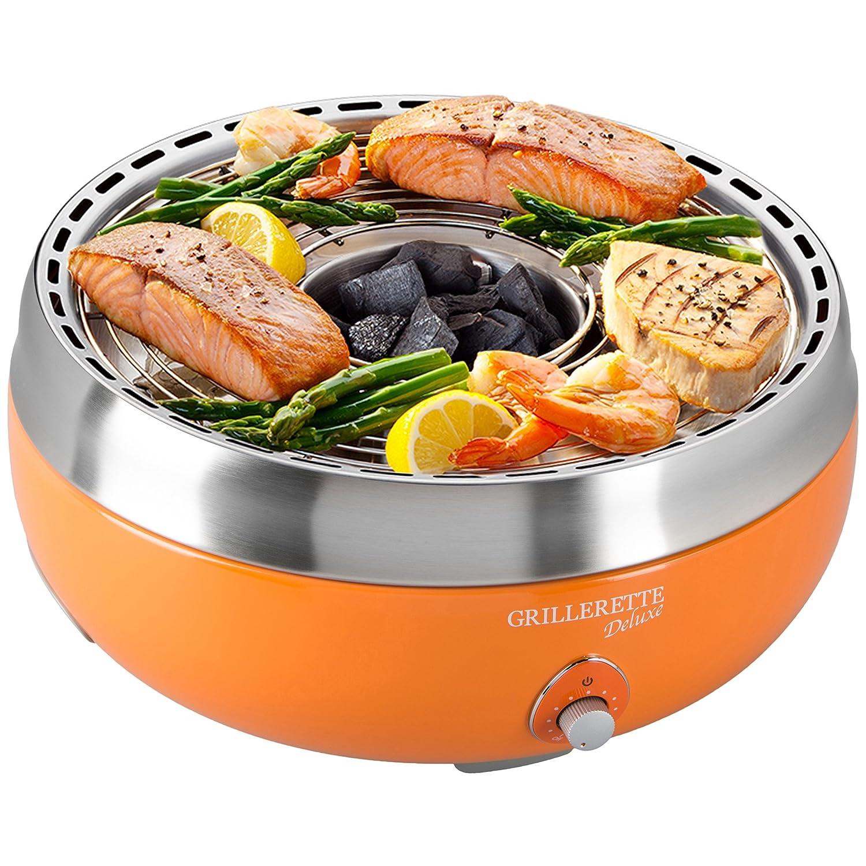 Food  Fun Deluxe Barbacoa de carbón vegetal sin humos con bolsa