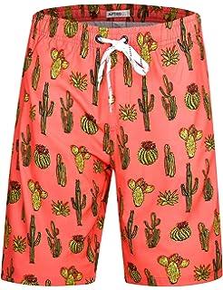 e17fa3e6045 APTRO Men's Quick Dry Swim Trunks Long Elastic Waistband Swimwear Bathing  Suits with Pockets