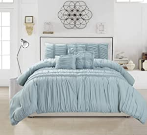 kensie Emilia Non-Down Comforters - (Full/Queen/King), Ether-Blue