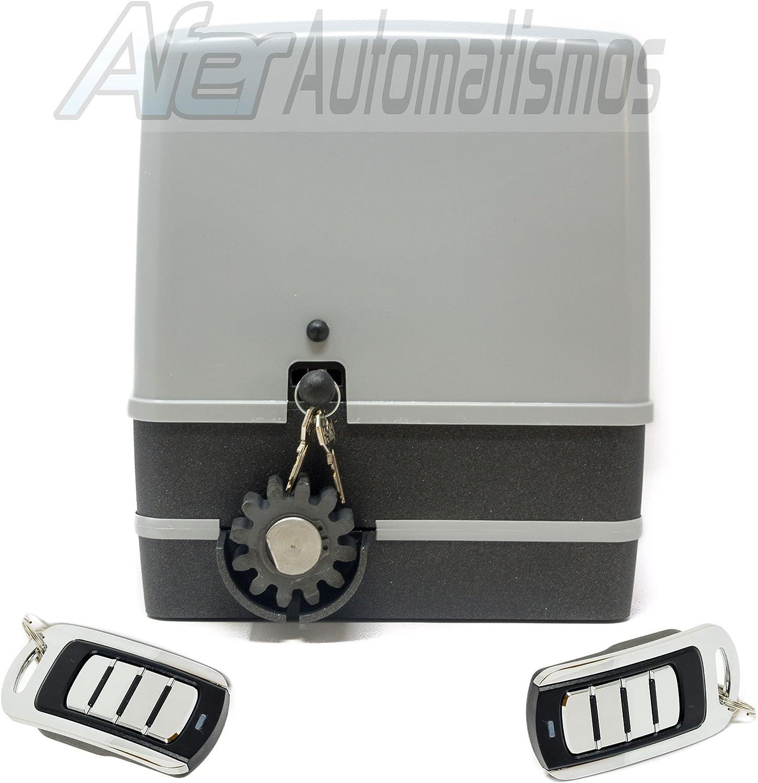 Kit motor para puerta de garaje o cancela corredera VDS SIMPLY 600 Kg – 230 v + 2 mandos Rolling code 4 canales 433 Mhz.
