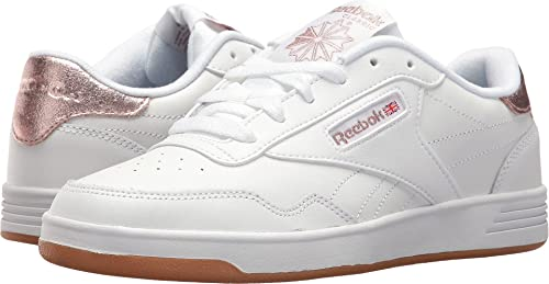Reebok Womens Club MEMT White Rose Gold Gum 6.5 B - Medium  Amazon ... e54c86d19