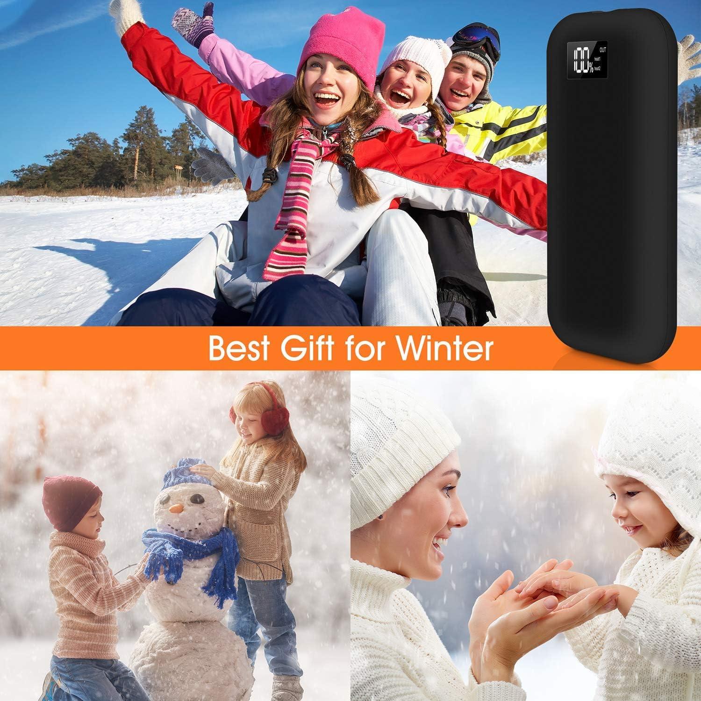 Winter Gifts for Skiing Climbing Hiking Sendowtek Portable Hand Warmer 20000mAh Power Bank Rechargeable Type-C Hand Warmer Heater Reusable Pocket Handwarmer Single//Double-Side Quick Heating