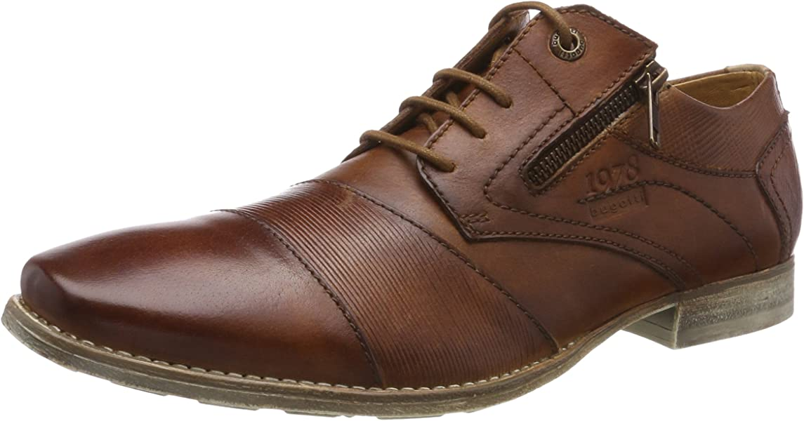Bugatti Men/'s Shoes Lace-Up Cognac Brown 312420152100 6300