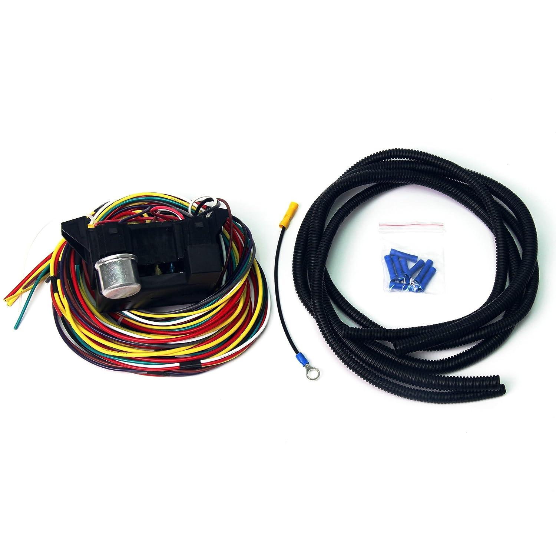 Wisamic 10 Circuit Basic Wiring Harness Fuse Box Street Hot Rat Rod Wiring  Box Car Truck 12V: Amazon.co.uk: Car & Motorbike