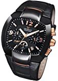 Viceroy 432021-95 - Reloj de caballero de cuarzo, correa de piel color negro