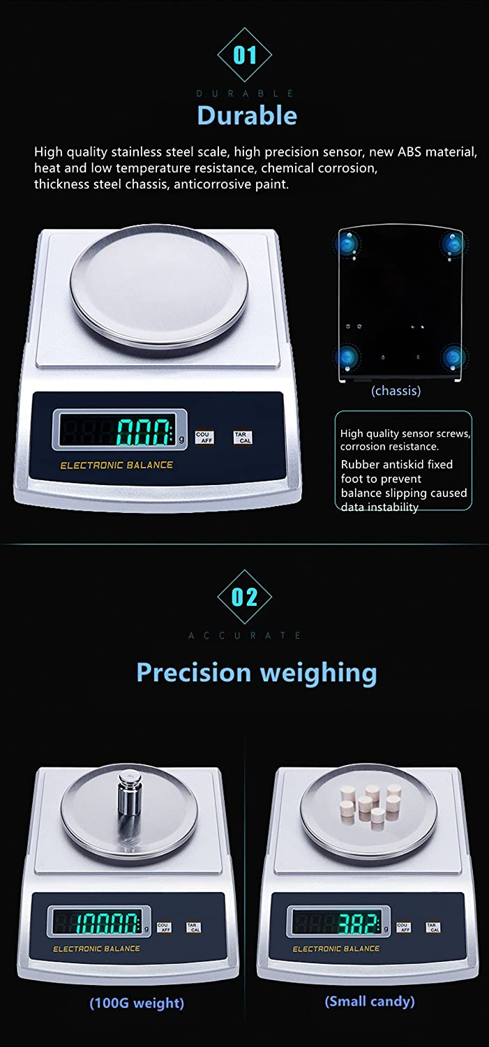 Kitchen,dining & Bar Home & Garden High Kitchen Electronic Digital Scales New Mini Baking Measurement Electronic Balance Weighing Tools 500g/0.01g