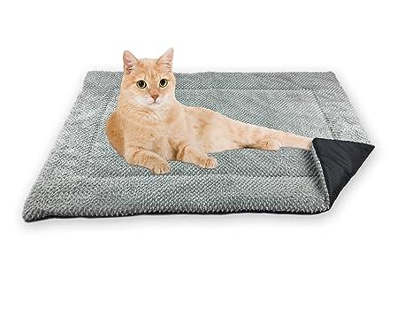 FLUFFINO Manta del gato de - mullida, suave y Lavable (73 x 45 cm, gris) - Mayor resistencia ...