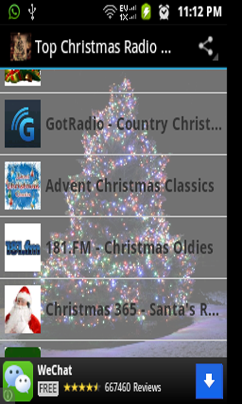 amazoncom top christmas radio stations appstore for android - Country Christmas Radio
