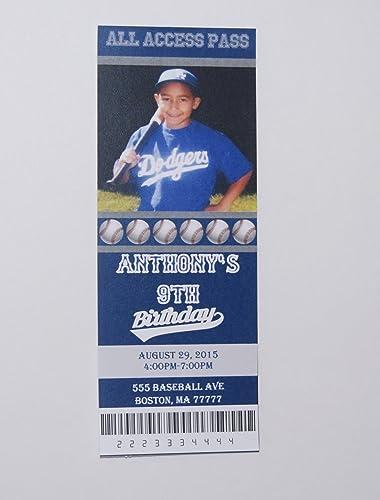 Amazon Birthday Invitation Baseball Party