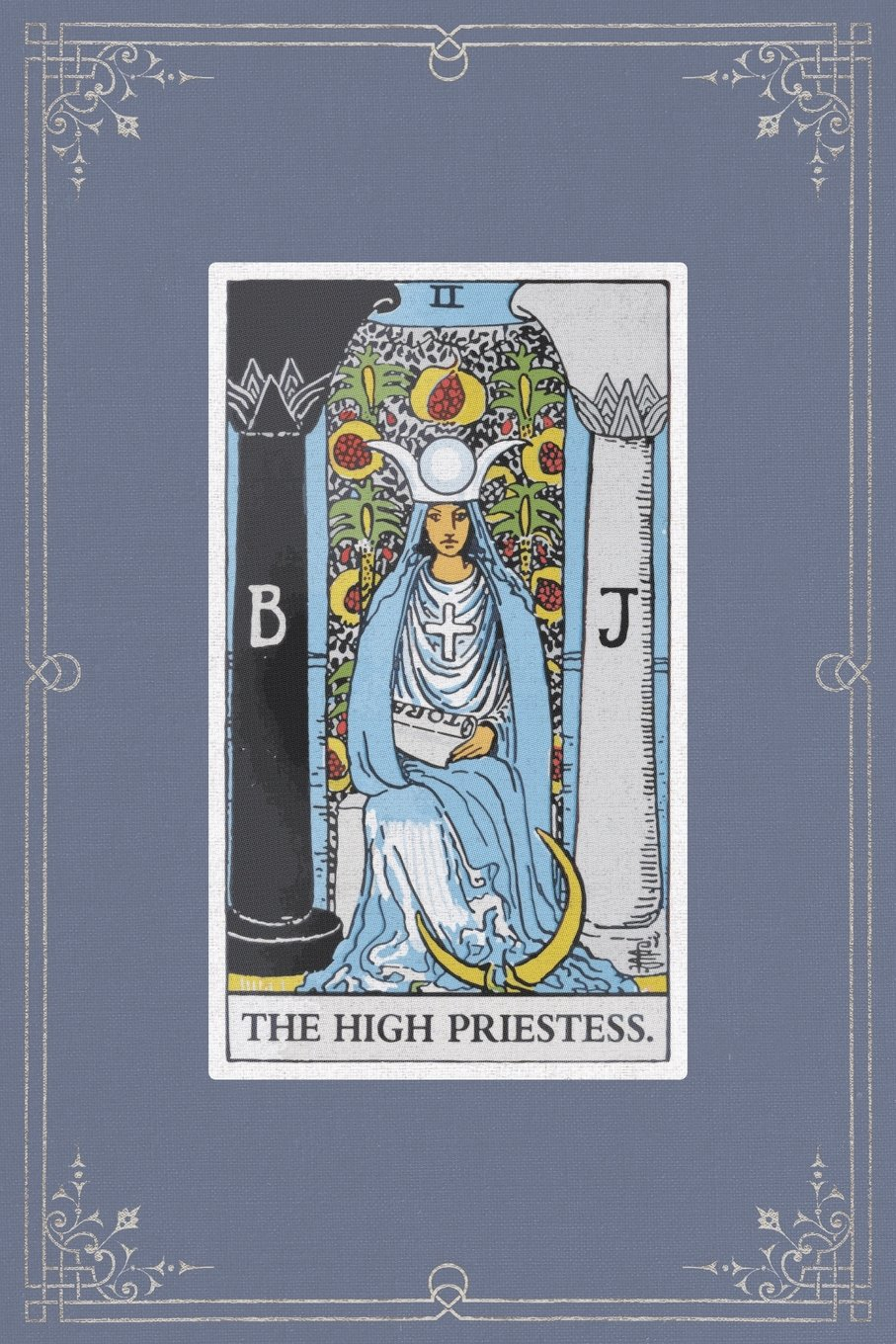 Read Online The High Priestess: 120 Blank Lined Pages, 6 X 9 College Ruled Notebook, The High Priestess Tarot Card - Antique Vintage Style Journal, Diary, ... Vintage Style - Tarot Card Notebooks) ebook