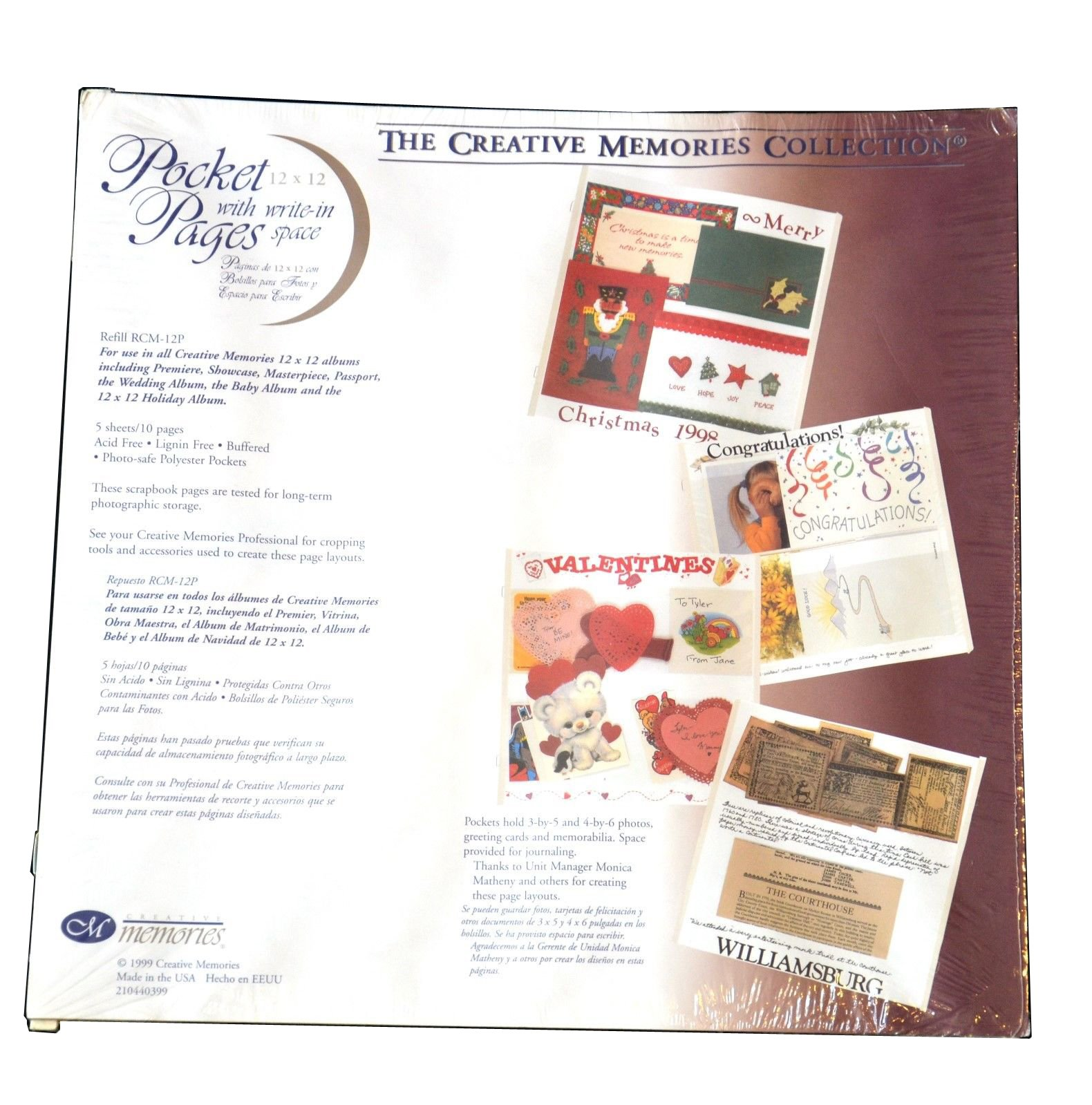 Creative Memories 12x12 Pocket Pages