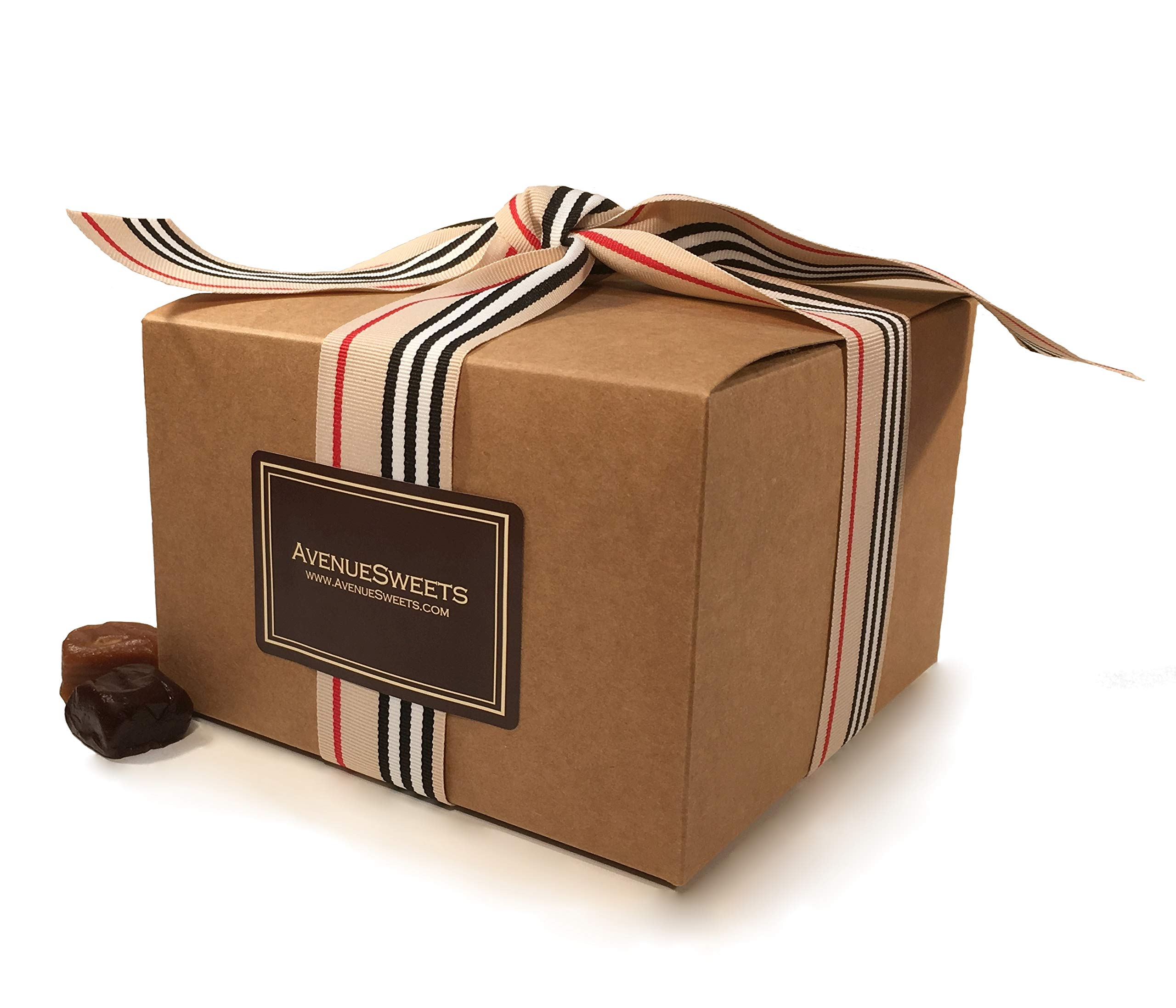AvenueSweets - Handcrafted Individually Wrapped Soft Caramels - Craft Paper 1.5 lb Gift Box - Customize Your Flavors by AvenueSweets