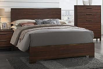 Coaster Home Furnishings 204351Q Panel Bed Rustic Tobacco//Dark Bronze