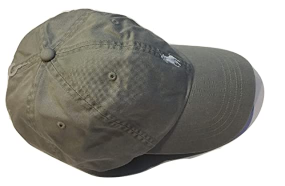 f74805012 Image Unavailable. Image not available for. Color  Ralph Lauren Polo Men s  Twill Baseball Cap Hat Light Grey