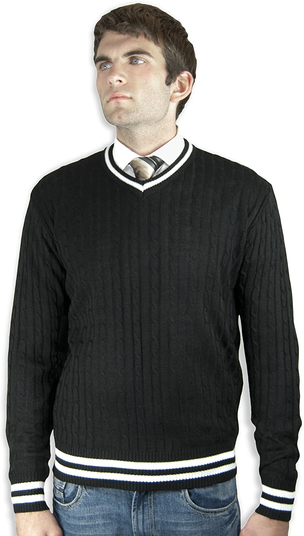 Jotebriyo Men Knitting Floral Print Fashion Round Neck Regular Fit Pullover Sweater