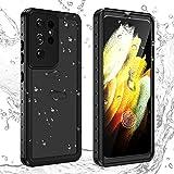 imluckies for Samsung Galaxy S21 Ultra Case Waterproof, Built-in Screen Protector 360° Full Body Protection, IP68 Waterproof