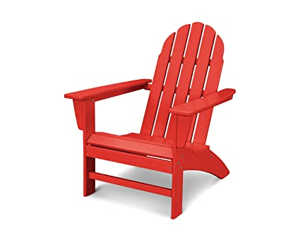 Genial POLYWOOD Vineyard Adirondack Chair (Sunset Red)