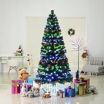 Amazon.com : HomCom 7' Tall Pre-Lit Artificial Fiber Optic LED Lit  Christmas Tree Holiday : Garden & Outdoor - Amazon.com : HomCom 7' Tall Pre-Lit Artificial Fiber Optic LED Lit