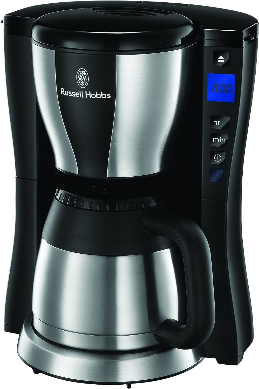 Russell Hobbs Fast Brew Cafetera, Temporizador Programable, 1200 W, 1 Liter, Negro, Acero inoxidable: Amazon.es: Hogar