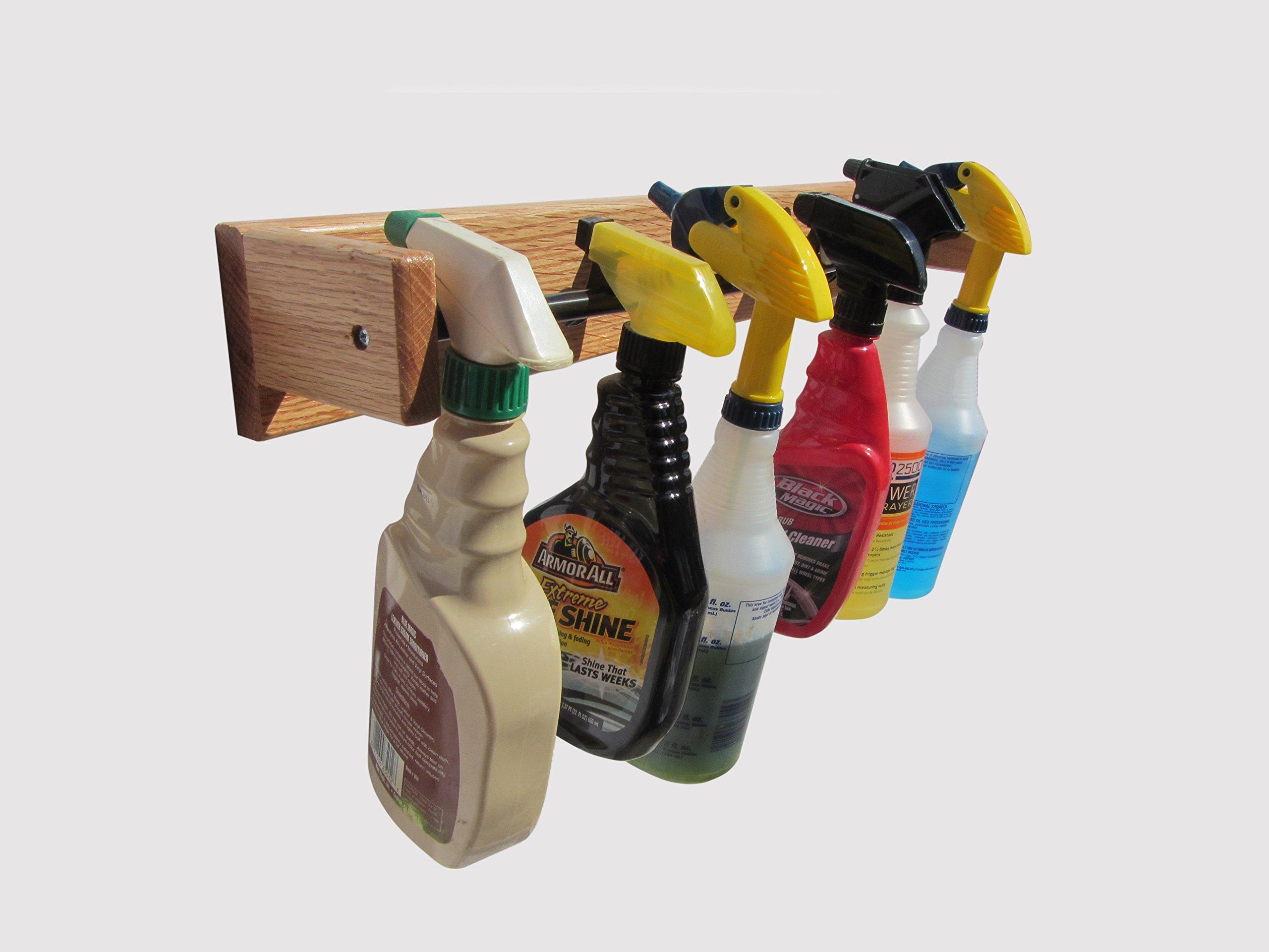 Standard Spray Bottle Rack, 24'' Long (Made in the USA)