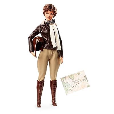 Barbie Inspiring Women Amelia Earhart Doll: Toys & Games