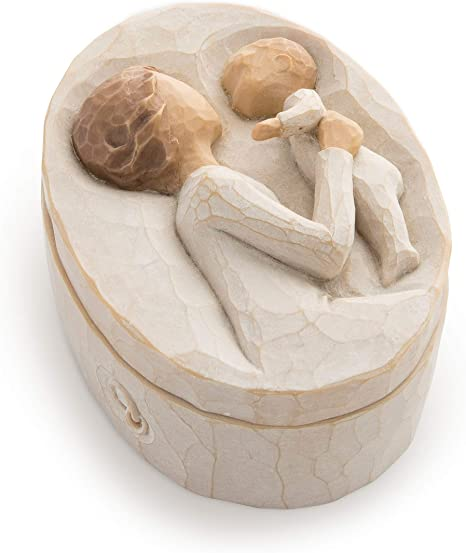 Willow Tree Grandmother Sculpted Hand Painted Keepsake Box Susan Lordi Home Kitchen