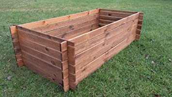 Compostador de madera estable, contenedor de compost, ...