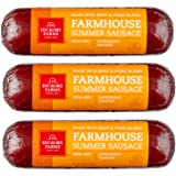Hickory Farms Farmhouse Summer Sausage 3-Pack, 10 ounces each | Great for Snacking, Entertaining, Charcuterie, Ready to Eat,