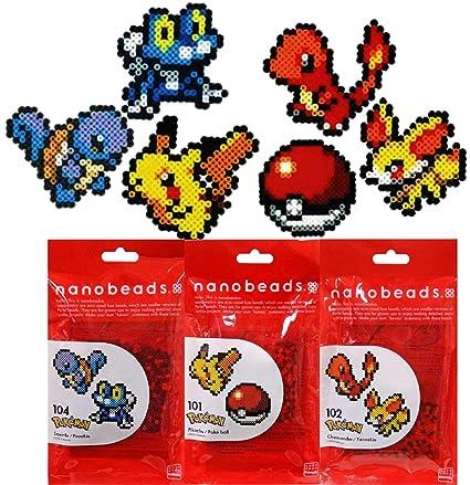 Amazon Com Nanobeads Mini Fuse Beads Pokemon Pikachu Poke Ball