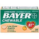 Bayer Chewable Aspirin Orange, 81mg, 36 Tablets
