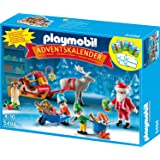 PLAYMOBIL 5494 - Adventskalender Weihnachtsmann beim Geschenke packen